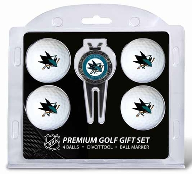 San Jose Sharks 4 Ball and Tool Gift Set