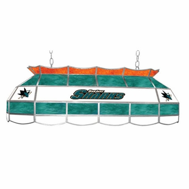 San Jose Sharks 40 Inch Rectangular Stained Glass Billiard Light