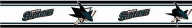 San Jose Sharks 5.5 Inch (Height) Wallpaper Border