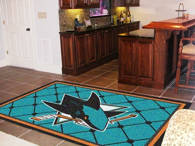 San Jose Sharks 5 Foot x 8 Foot Rug