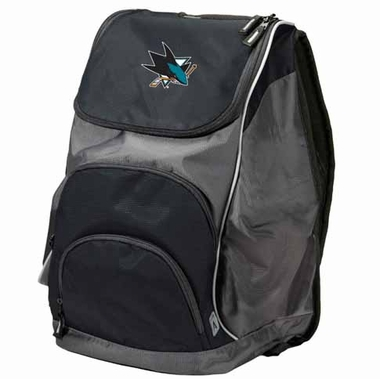 San Jose Sharks Action Backpack (Color: Black)
