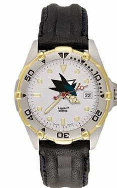 San Jose Sharks All Star Mens (Leather Band) Watch