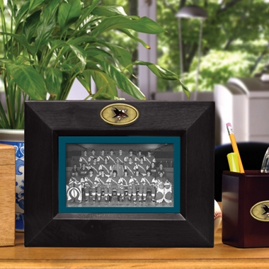 San Jose Sharks BLACK Landscape Picture Frame
