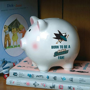 San Jose Sharks (Born to Be) Piggy Bank