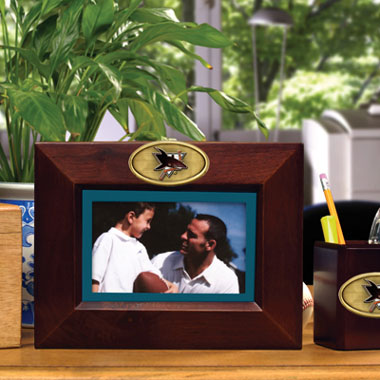 San Jose Sharks BROWN Landscape Picture Frame