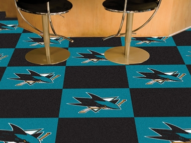San Jose Sharks Carpet Tiles