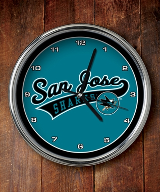 San Jose Sharks Chrome Clock