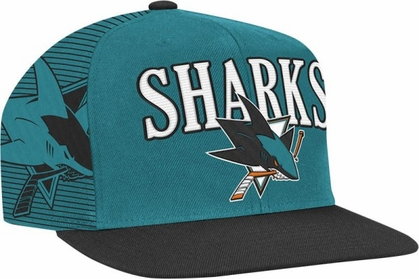 San Jose Sharks Double Graphic Laser Stitched Snap Back Hat