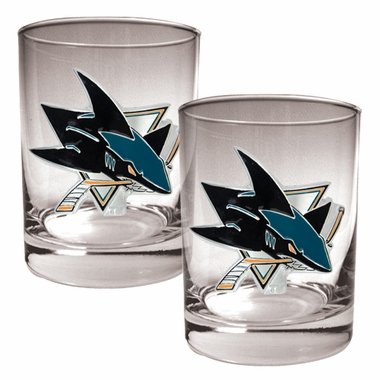 San Jose Sharks Double Rocks Set