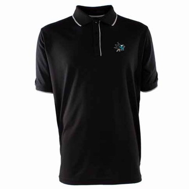 San Jose Sharks Mens Elite Polo Shirt (Team Color: Black)