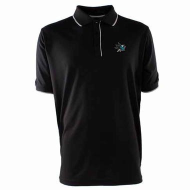 San Jose Sharks Mens Elite Polo Shirt (Color: Black)
