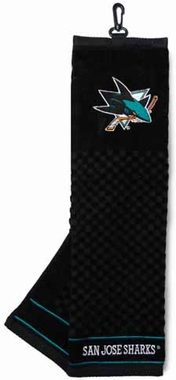 San Jose Sharks  Embroidered Golf Towel
