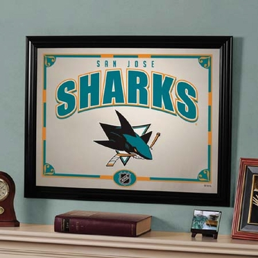 San Jose Sharks Framed Mirror