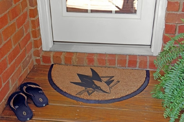 San Jose Sharks Half Moon Door Mat