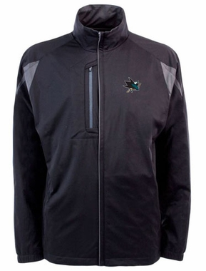 San Jose Sharks Mens Highland Water Resistant Jacket (Team Color: Black)