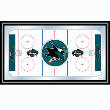San Jose Sharks Hockey Bar Mirror