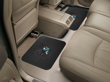 San Jose Sharks SET OF 2 Heavy Duty Vinyl Rear Car Mats