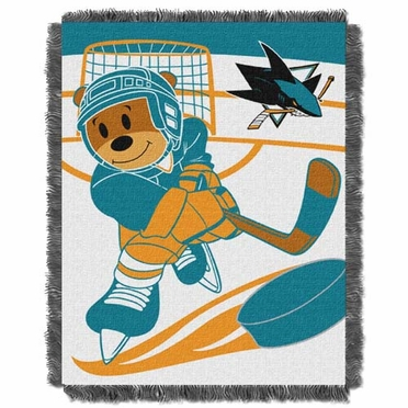 San Jose Sharks Jacquard BABY Throw Blanket