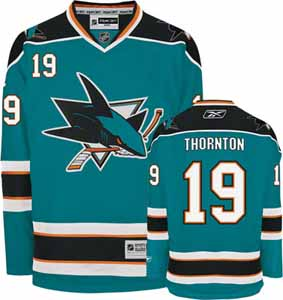 San Jose Sharks Joe Thornton Team Color Premier Jersey - Large
