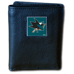 San Jose Sharks Leather Trifold Wallet (F)