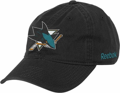 San Jose Sharks Logo Team Slouch Adjustable Hat