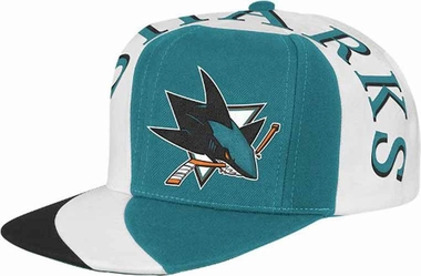 San Jose Sharks Mitchell & Ness The Swirl Retro Vintage Snap Back Hat