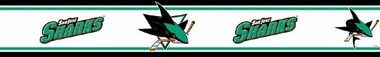 San Jose Sharks Peel and Stick Wallpaper Border