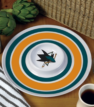 San Jose Sharks Plastic Chip and Dip Plate
