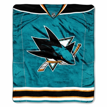 San Jose Sharks Plush Blanket