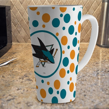San Jose Sharks Polkadot 16 oz. Ceramic Latte Mug