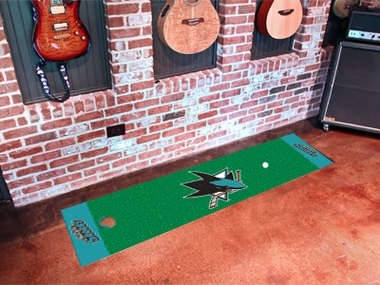 San Jose Sharks Putting Green Mat