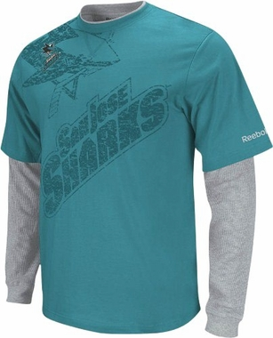 San Jose Sharks Scrimmage Layered Thermal Shirt