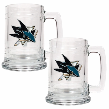 San Jose Sharks Set of 2 15 oz. Tankards
