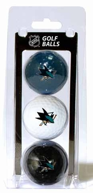 San Jose Sharks Set of 3 Multicolor Golf Balls