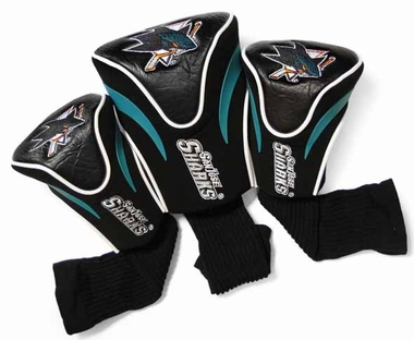 San Jose Sharks Set of Three Contour Headcovers