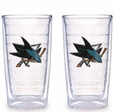 San Jose Sharks Set of TWO 16 oz. Tervis Tumblers