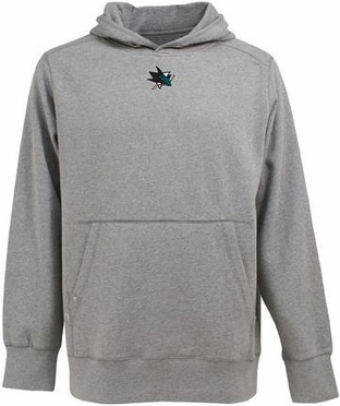 San Jose Sharks Mens Signature Hooded Sweatshirt (Color: Gray)