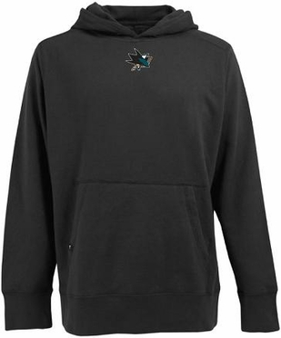 San Jose Sharks Mens Signature Hooded Sweatshirt (Team Color: Black)