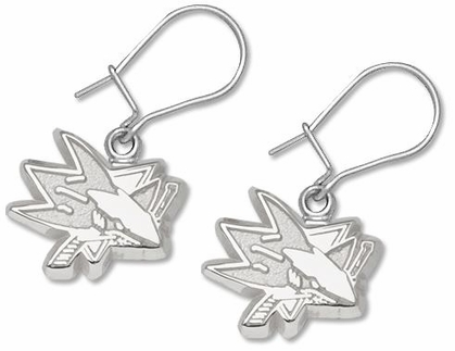 San Jose Sharks Sterling Silver Post or Dangle Earrings