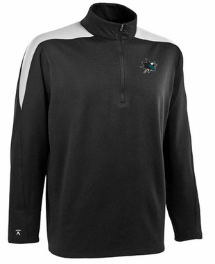 San Jose Sharks Mens Succeed 1/4 Zip Performance Pullover (Team Color: Black)