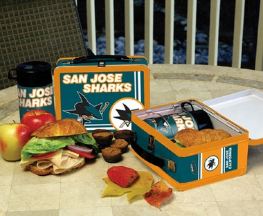 San Jose Sharks Tin Lunch Box