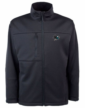 San Jose Sharks Mens Traverse Jacket (Team Color: Black)