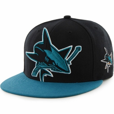San Jose Sharks Two Tone Colossal Snap Back Hat