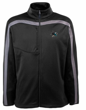 San Jose Sharks Mens Viper Full Zip Performance Jacket (Team Color: Black)