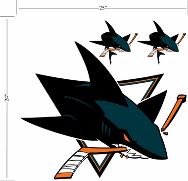 San Jose Sharks Wallmarx Large Wall Decal