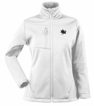 San Jose Sharks Womens Traverse Jacket (Color: White)