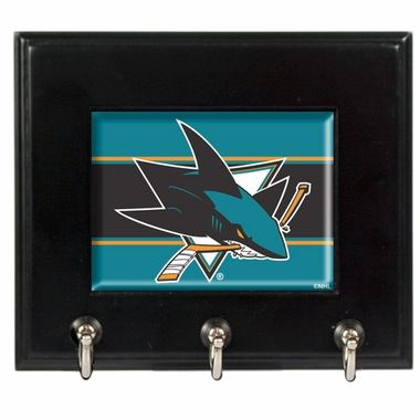 San Jose Sharks Wooden Keyhook Rack