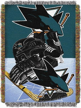 San Jose Sharks Woven Tapestry Blanket