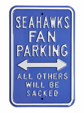 Seahawks Sacked Parking Sign