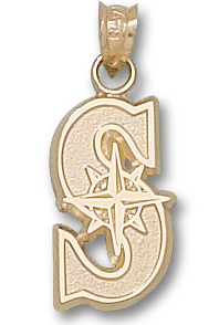 Seattle Mariners 14K Gold Pendant